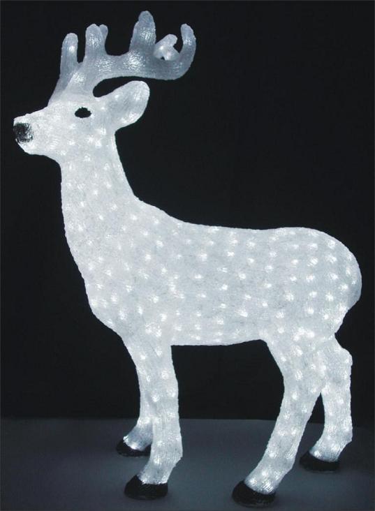 Fy 001 b04 reno de la navidad de acr lico l mpara de la - Renos de navidad con luces ...
