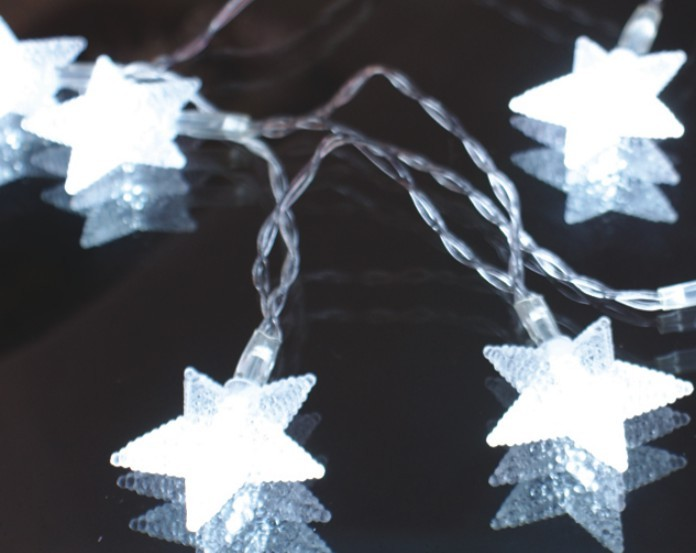 made in china  FY-009-A177 LED LIGHT cheap christmas  CHAIN WITH STAR DECORATION  factory