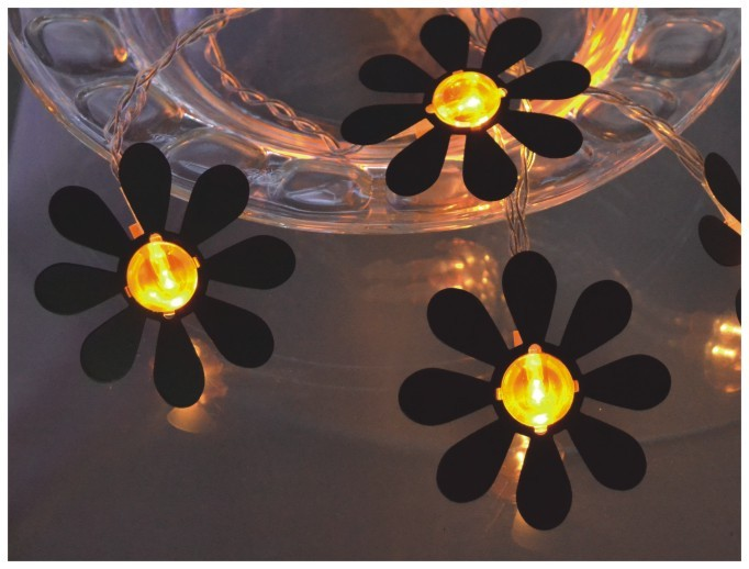 manufacturer In China FY-009-A194 LED cheap christmas LIGHT CHAIN WITH STEEL FLOWER  factory