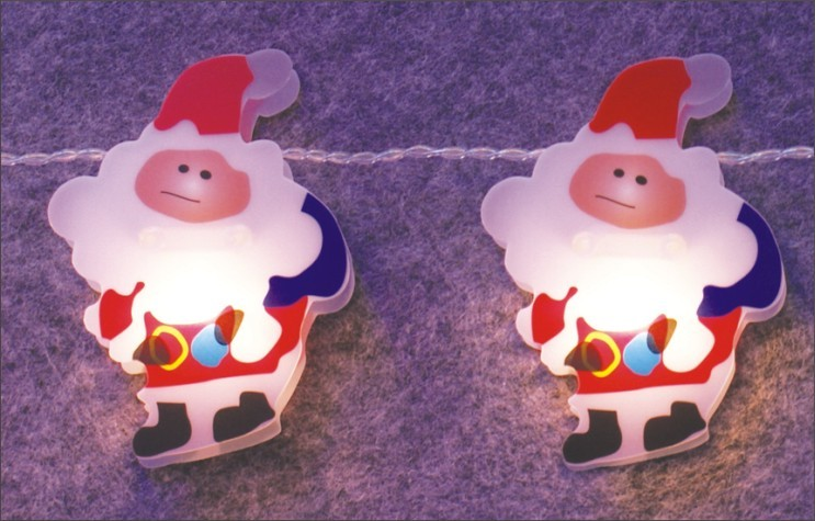 manufactured in China  FY-009-C64 LED LIGHT CHAIN WITH PVC SANTA CLAUS  factory