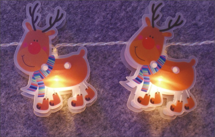 made in china  FY-009-C67 LED LIGHT CHAIN WITH PVC REINDEER  corporation