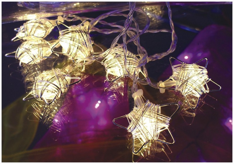 manufactured in China  FY-009-F25 LED LIGHT CHAIN WITH STAR DECORATION  company