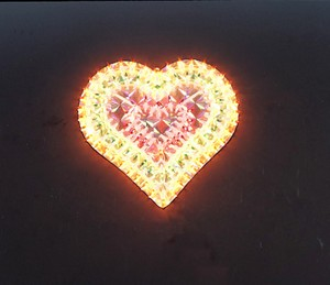 made in china  cheap christmas heart plastic frame light bulb lamp  corporation